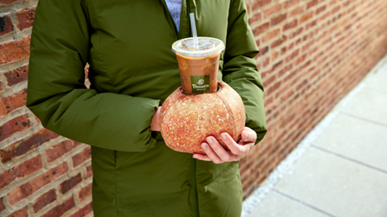 Panera unveils bread bowl glove for people who enjoy iced coffee in the winter