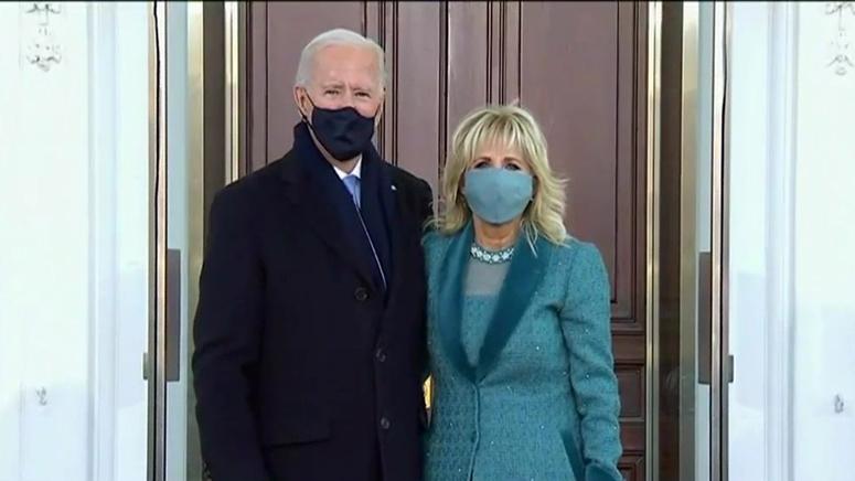 Bidens arrive at White House