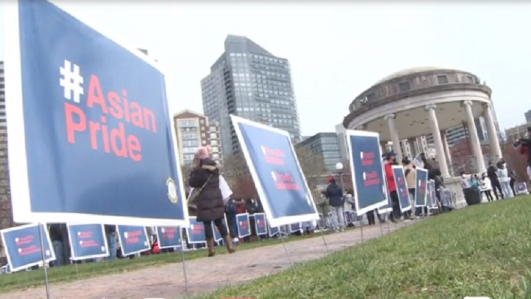 whdh.com: Demonstrators at Boston Common denounce hate, call for more Asian-American history in classrooms
