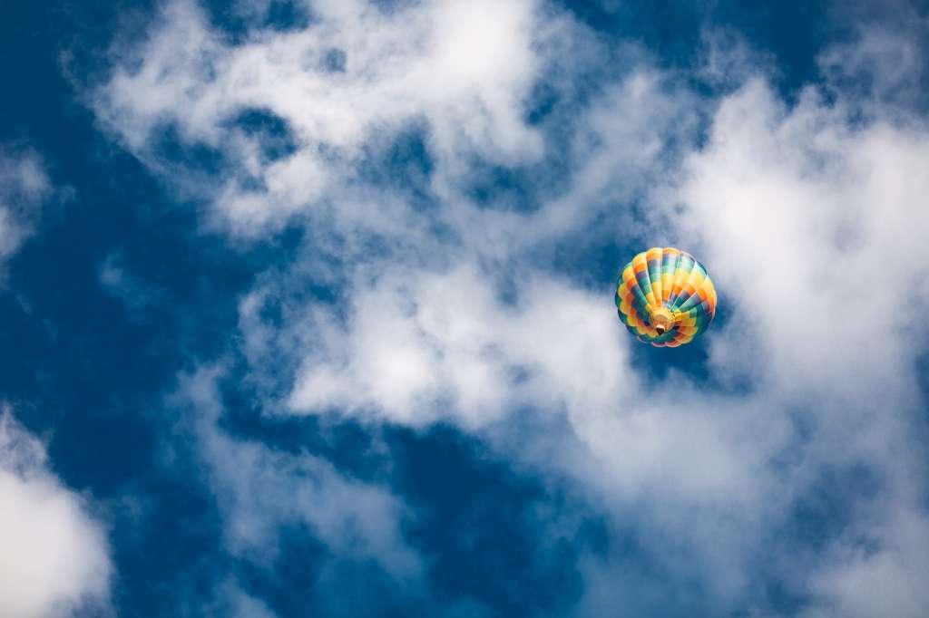 hot air balloon in air